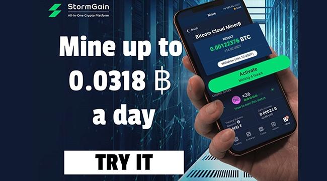 StormGain, Milyarlarca Akıllı Telefon Kullanıcısına Hizmet Vererek Kripto Madenciliği Oyun Alanını Seviyelendiriyor